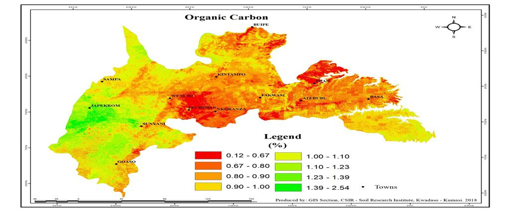 Brong Ahafo Organic Carbon Map