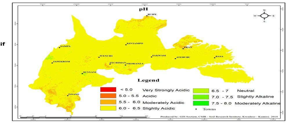 Brong Ahafo pH Map